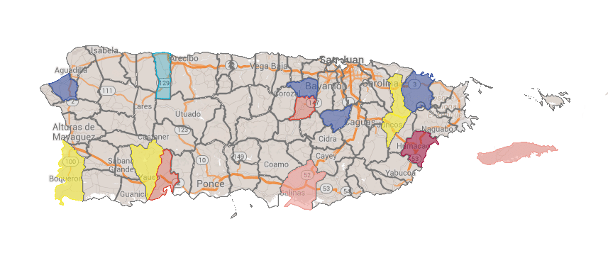 Race Ratings: Aguas Buenas, Hatillo, Toa Alta