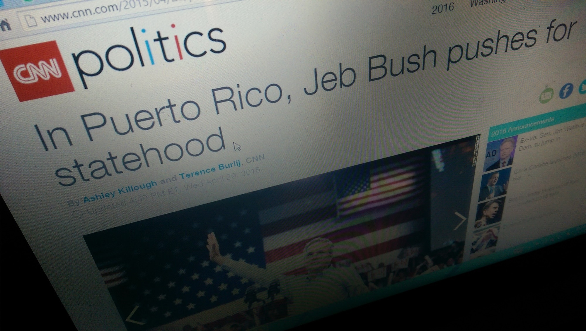 Puerto Rico becomes a problem for Jeb Bush