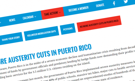 Organize Now to deliver nearly 7,000 petitions demanding no more austerity cuts in Puerto Rico