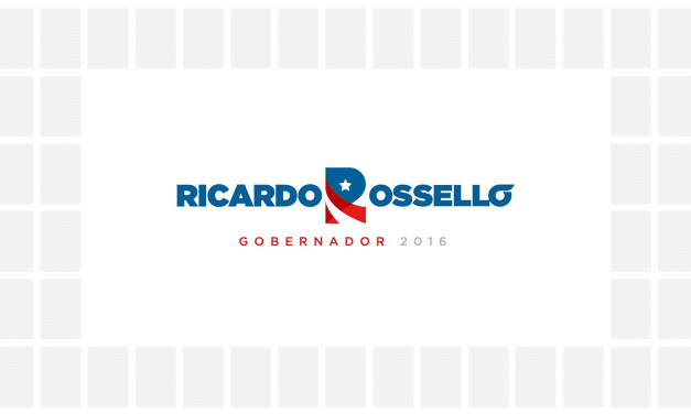 Logo and branding for Ricardo Rossello's gubernatorial campaign