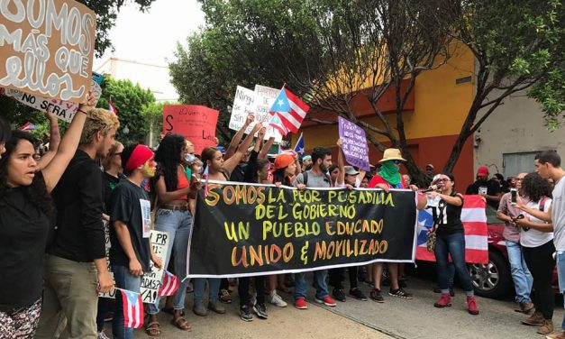 This is what happened during the Puerto Rico general strike